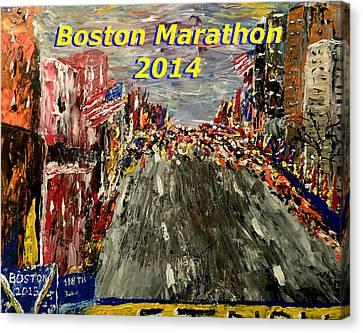 Boston Marathon 2014 Canvas Print