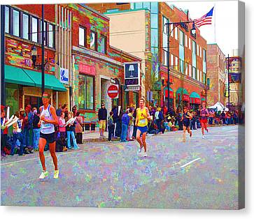 Rose Cottage Gallery Canvas Print - Boston Marathon Mile Twenty Two by Barbara McDevitt