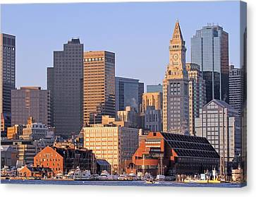 Custom House Tower Canvas Print - Boston Marriott Long Wharf by Juergen Roth