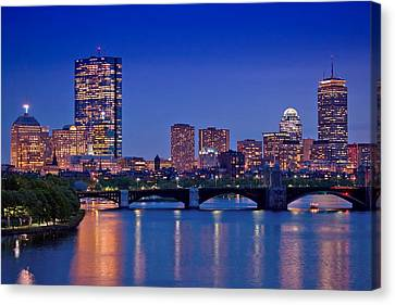 Hancock Building Canvas Print - Boston Nights 2 by Joann Vitali