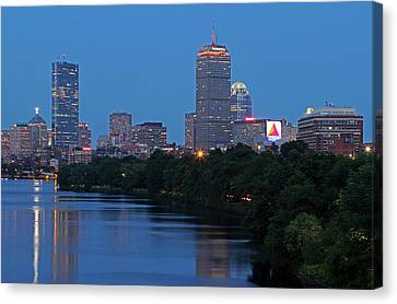 Boston Nightscape Canvas Print by Juergen Roth