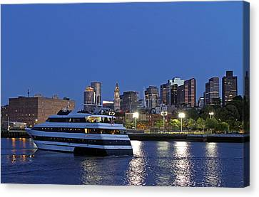 Boston Odyssey Cruise Ship Canvas Print by Juergen Roth