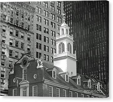Boston Old State House Canvas Print by Cheryl Del Toro