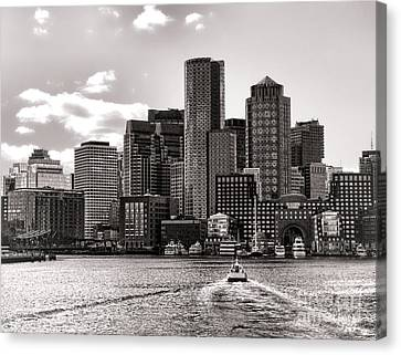 Canvas Print featuring the photograph Boston by Olivier Le Queinec