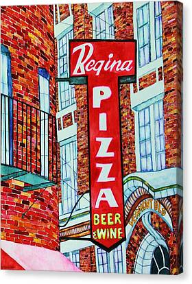 Boston Pizzeria  Canvas Print