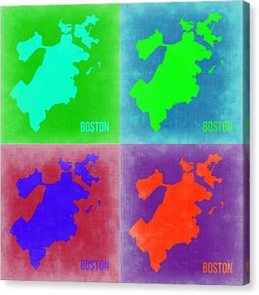 Boston Canvas Print - Boston Pop Art Map 2 by Naxart Studio