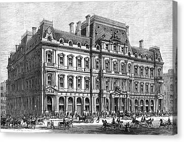 Boston Post Office, 1870 Canvas Print by Granger