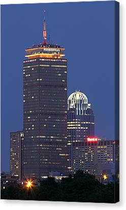 Charles River Canvas Print - Boston Prudential Tower by Juergen Roth