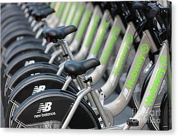 Boston Public Bikes I Canvas Print by Clarence Holmes