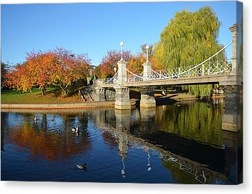 Boston Public Garden Autumn Canvas Print by Toby McGuire