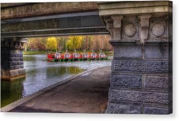 Boston Public Garden Swan Boats 2 Canvas Print by Joann Vitali