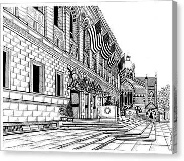 Boston Public Library Canvas Print by Conor Plunkett