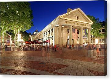 Boston Quincy Market Near Faneuil Hall Canvas Print