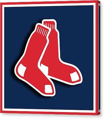 Boston Red Socks Canvas Print by Tony Rubino