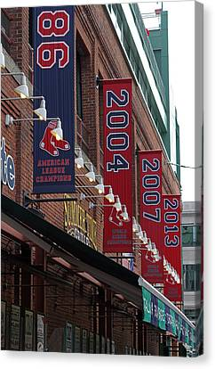 Boston Red Sox 2013 Championship Banner Canvas Print by Juergen Roth