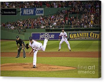 Boston Red Sox Canvas Print by Amazing Jules