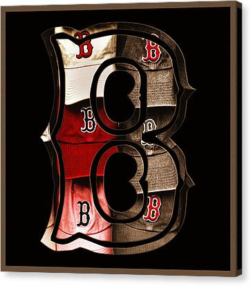 Boston Red Sox Logo - Sepia Canvas Print by Joann Vitali