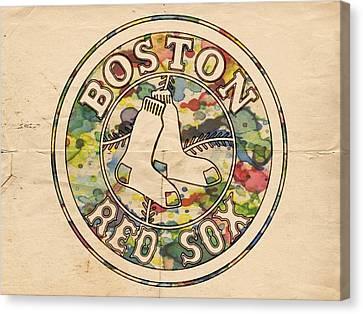 Boston Red Sox Poster Canvas Print by Florian Rodarte