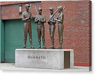 Boston Red Sox Teammates Canvas Print by Juergen Roth