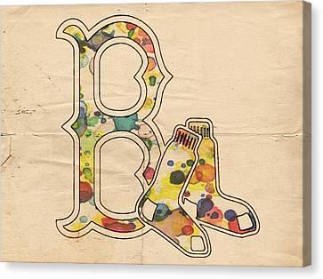 Boston Red Sox Vintage Logo Canvas Print by Florian Rodarte