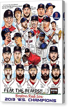 Mike Canvas Print - Boston Red Sox Ws Champions by Dave Olsen