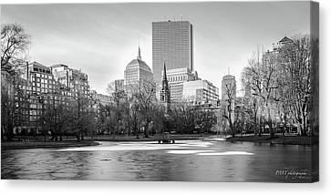 Boston Sky From Public Garden Canvas Print
