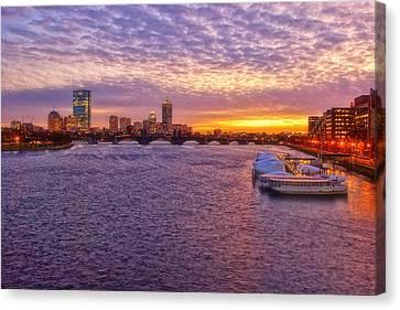 Charles River Canvas Print - Boston Sky by Joann Vitali