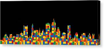 Boston Skyline 4 Canvas Print by Andrew Fare