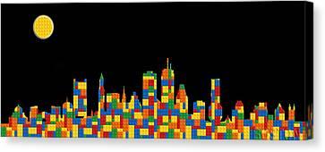 Boston Skyline 5 Canvas Print by Andrew Fare