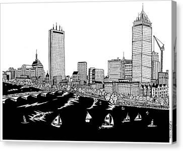 Boston Skyline Back Bay Canvas Print by Conor Plunkett