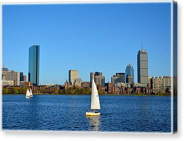Canvas Print featuring the photograph Boston Skyline Back Bay View by Amanda Vouglas