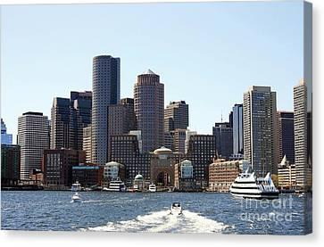 Boston Skyline Canvas Print by David Gardener