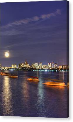 Boston Skyline From Memorial Drive Canvas Print by Joann Vitali