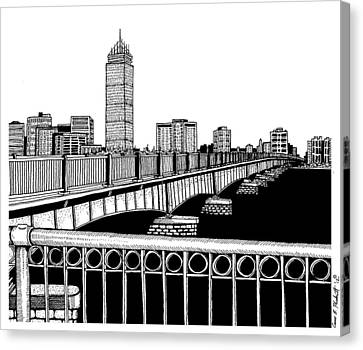 Boston Skyline Mass Ave Canvas Print by Conor Plunkett
