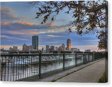 Boston Skyline On The Charles River Canvas Print