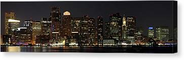 Boston Skyline Panoramic Canvas Print by Juergen Roth