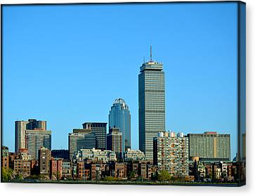 Canvas Print featuring the photograph Boston Skyline Prudential Tower by Amanda Vouglas