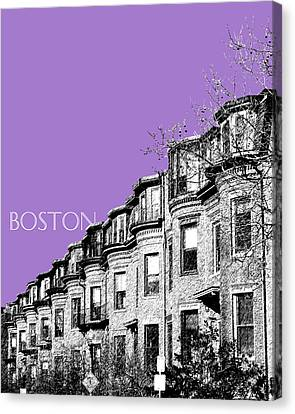 Boston South End - Violet Canvas Print by DB Artist