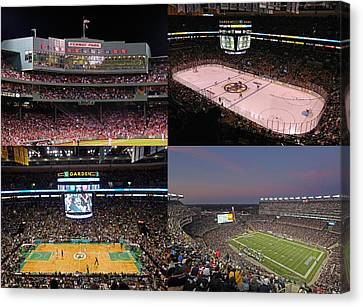 Boston Sports Teams And Fans Canvas Print by Juergen Roth