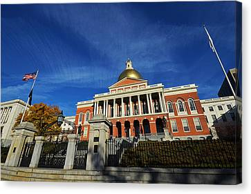 Boston State House Canvas Print by Toby McGuire