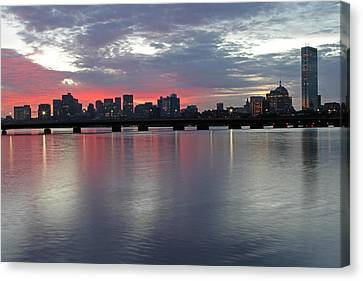 Boston Sunrise Canvas Print by Juergen Roth
