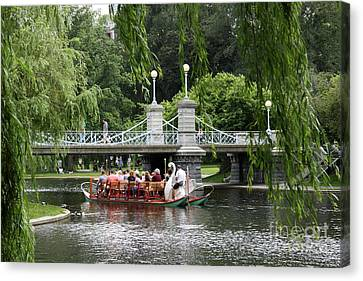 Boston Swan Boat Canvas Print by Christiane Schulze Art And Photography