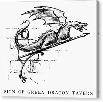 Boston: Tavern Sign Canvas Print by Granger