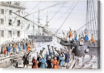 Boston Tea Party, 1773 Canvas Print by Granger