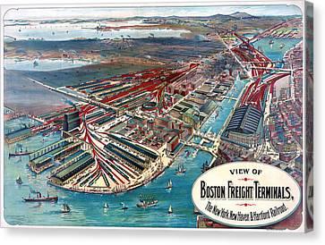 Boston Terminal, C1903 Canvas Print