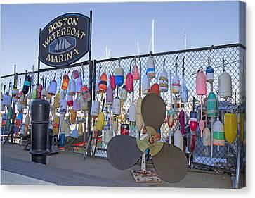 Boston Waterboat Marina Buoys  Canvas Print by Betsy Knapp