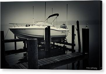 Boston Whaler In The Fog Canvas Print