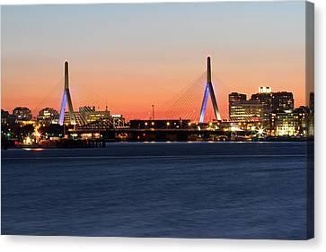 Charles River Canvas Print - Boston Zakim Bridge  by Juergen Roth