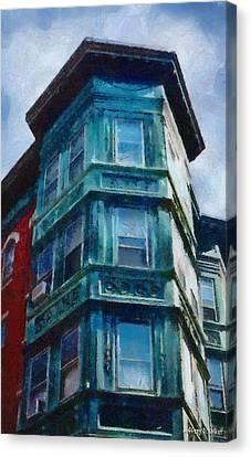 Boston's North End Canvas Print by Jeff Kolker