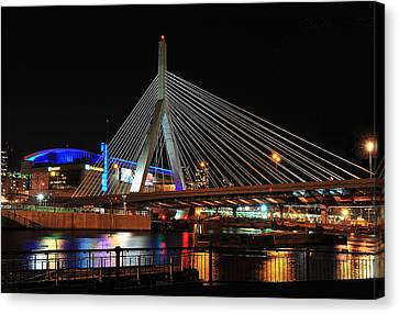 Boston's Zakim-bunker Hill Bridge Canvas Print by Mitchell R Grosky